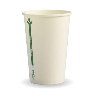 320ml / 10oz (80mm) White Green Line Single Wall BioCup