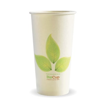 595ml / 20oz (90mm) Leaf Single Wall BioCup