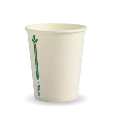 280ml / 8oz (80mm) White Green Line Single Wall BioCup