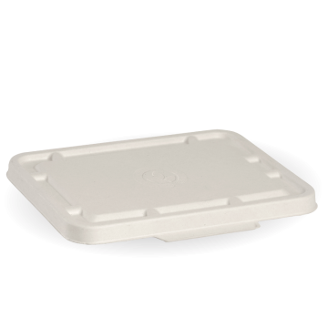 2 & 3 Compartment White Takeaway Base Lid