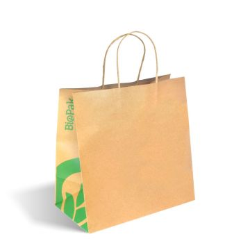 Large Twist Handle Kraft Paper Bags