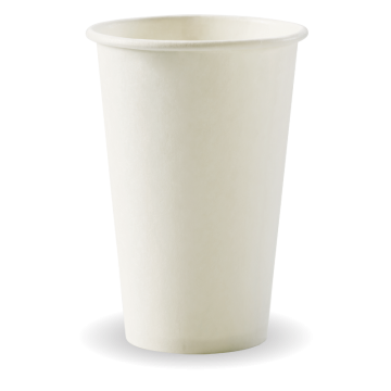 350ml / 12oz (80mm) White Single Wall BioCup