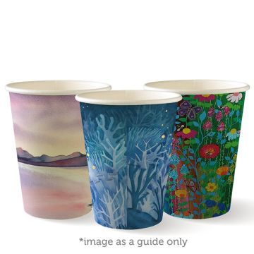 390ml / 12oz (90mm) Art Series Single Wall BioCup