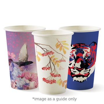 350ml / 12oz (80mm) Single Wall Art Series BioCup