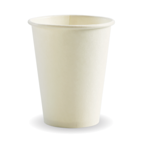 390ml / 12oz (90mm) White Single Wall BioCup
