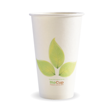 510ml / 16oz (90mm) Leaf Single Wall BioCup