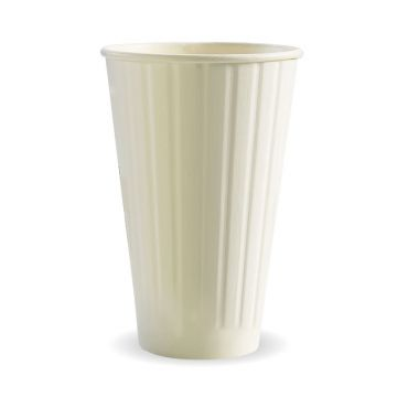 460ml / 16oz (90mm) White Double Wall BioCup