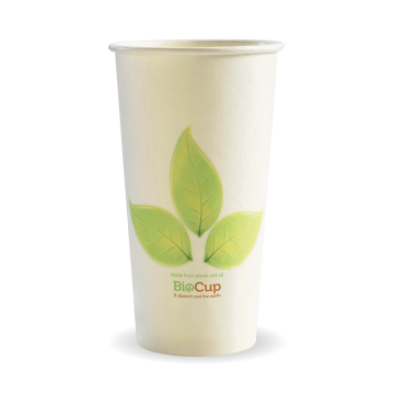 595ml / 20oz (90mm) Leaf Single Wall BioCup