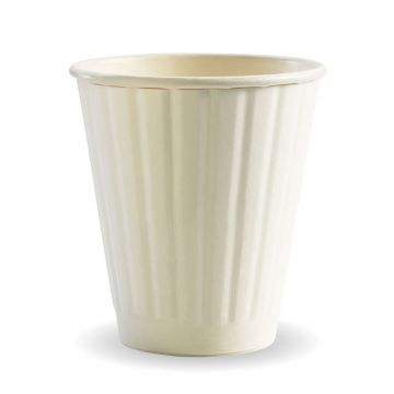 295ml / 8oz (90mm) White Double Wall BioCup