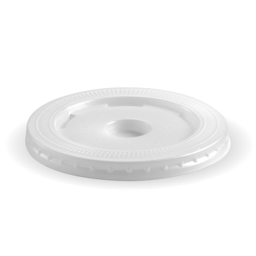 90mm PS White Large Straw-Slot Lid