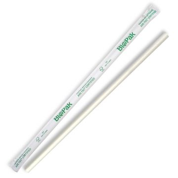 6mm Regular White BioStraw - Individual Wrapped