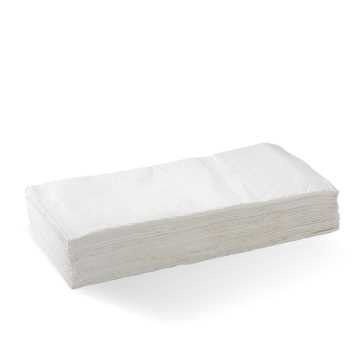 2 Ply 1/8 Fold White Dinner BioNapkin