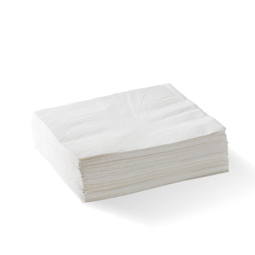 2 Ply 1/4 Fold White Lunch BioNapkin